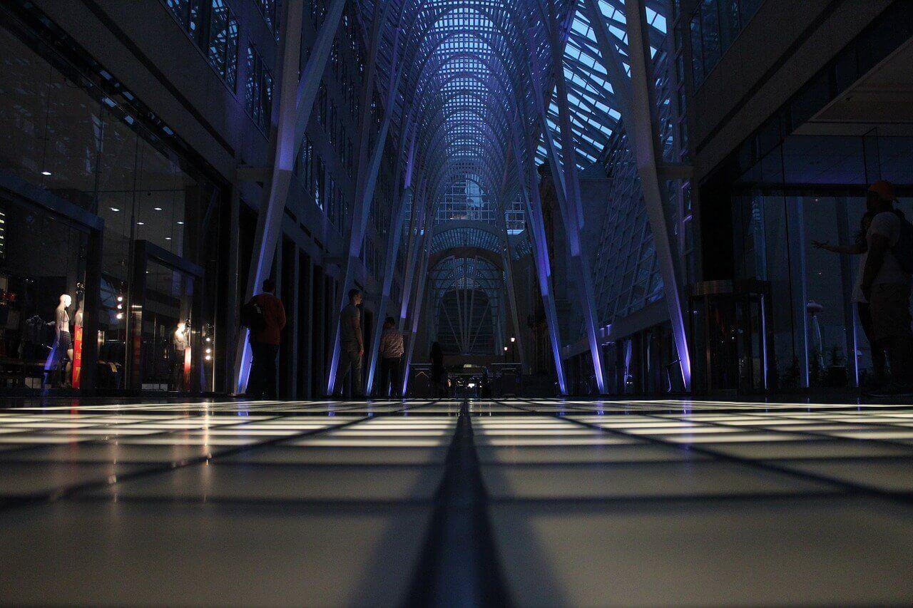 iluminacion para vitrinas y centros comerciales
