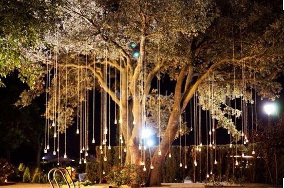 Iluminaci n de terrazas y jardines para fiestas que for Luces de jardin exterior