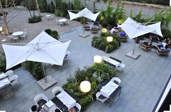 iluminacion terraza hotel españa