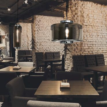 lampara de techo LED jarras 40 cm mantra estilo industrial