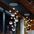 lampara techo sphere 14 luces led